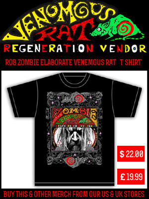ROB ZOMBIE ELABORATE VENEMOUS RAT - T-SHIRT