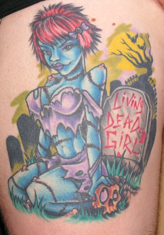 Living Dead Girl Tribute Tattoo to RZ!