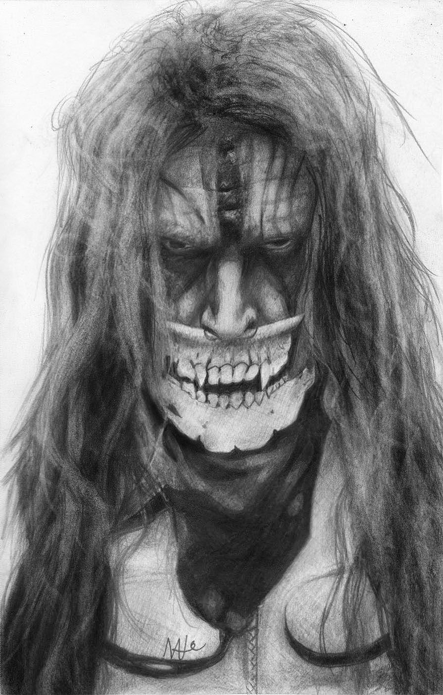 Rob Zombie drawing by Nat Morley