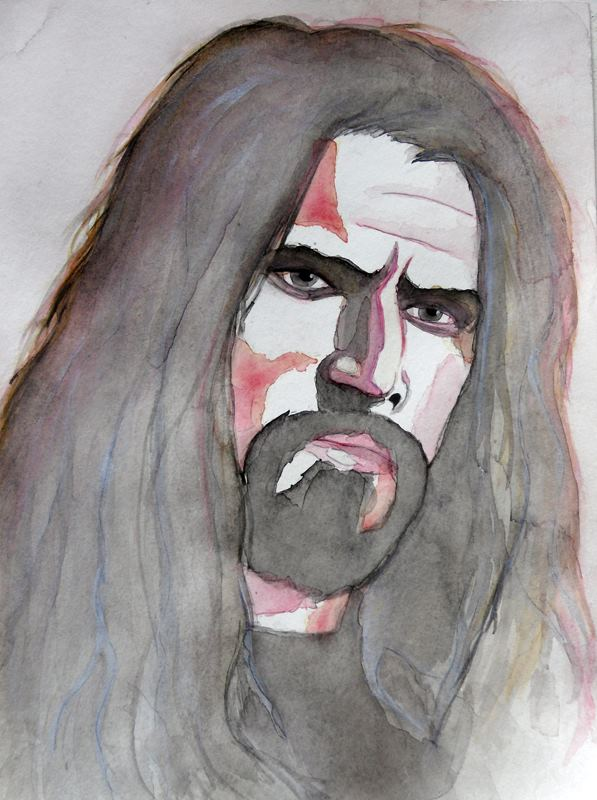 Rob\'s portrait | watercolor 2012 by D.Deveney
