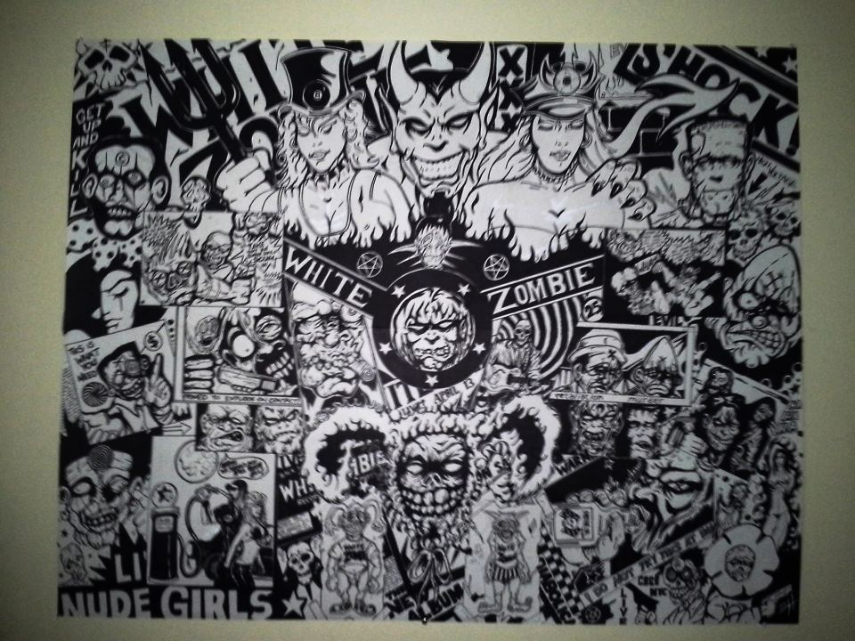 White Zombie Graffitti Wall