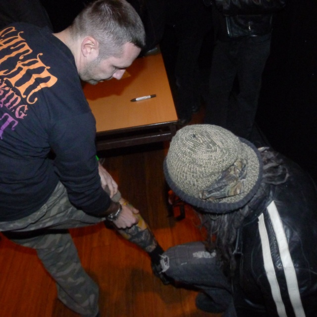 Zombie tatts signed by Rob Zombie, Vienna 12.2012