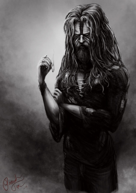 Rob Zombie digital painting