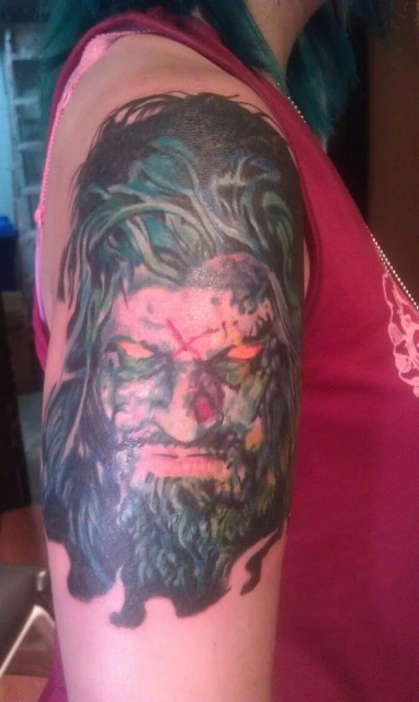 Start of my Zombie sleeve!
