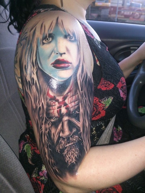 Rob Zombie and Courtney Love Portraits