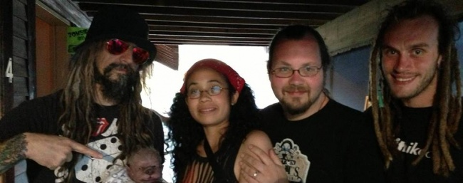 Asia, Anders and Frank back stage with Rob Zombie.