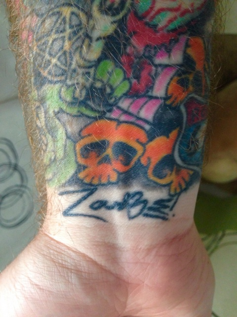 Rob Zombie inspired sleeve