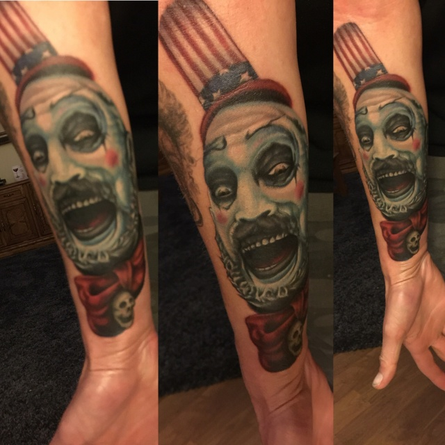 2 Horror Themed Tattoo Sleeve