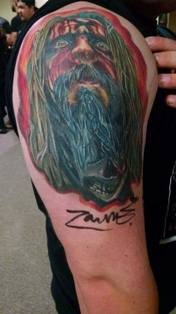 tatto signed by zombie, art by nate bjork
