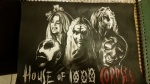 House of 1000 Corpses drawing - 14x 17 charcoal