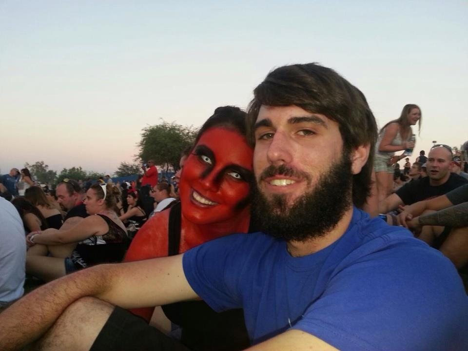 Angry Red Woman at Phoenix concert 2012 :)
