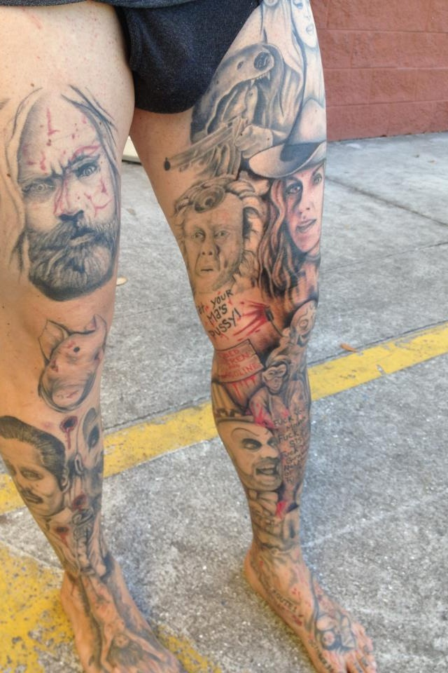 Corpses and rejects leg sleeve by piper rudich
