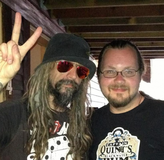 Anders and rob back stage at mayhem tour