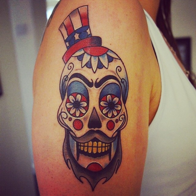 My awesome Captain Spaulding Sugar Skull