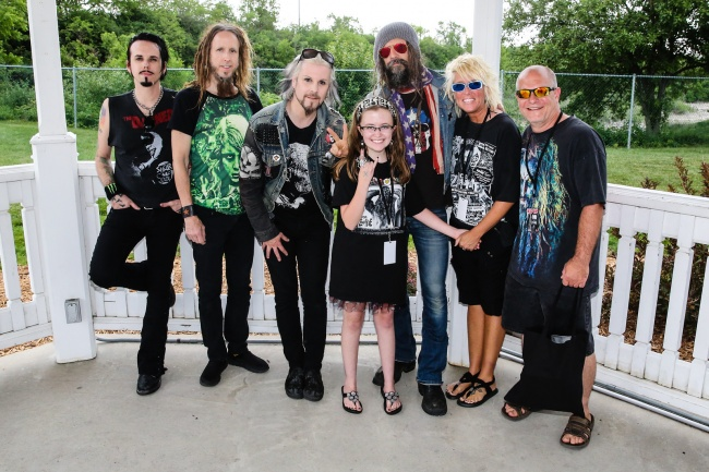 Me and my family with Rob zombie