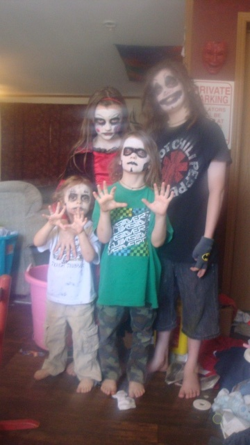 zombies, a clown, and living dead girl