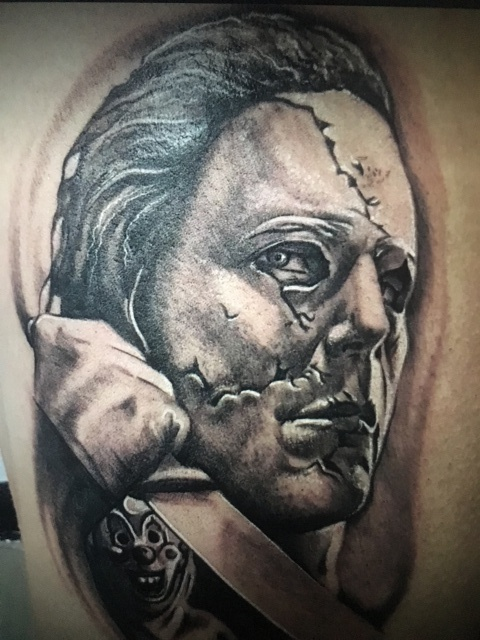 Michael Myers tattoo by Spectre Tattoos