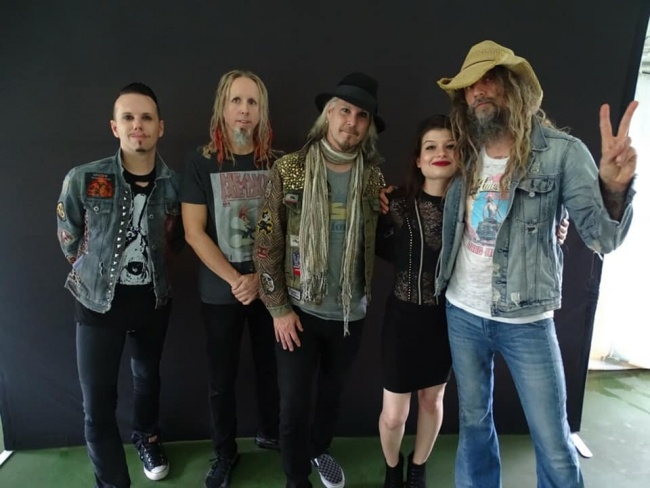 August 11 2018 Hartford Connecticut Meet and greet with Rob,John 5,Piggy & Ginger