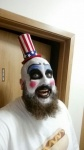 This is me cosplaying as Captain Spaulding one of my favorite characters to dress up as!